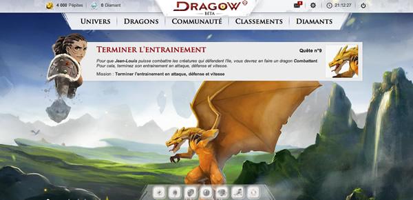 Entrainement des dragons dans Dragow